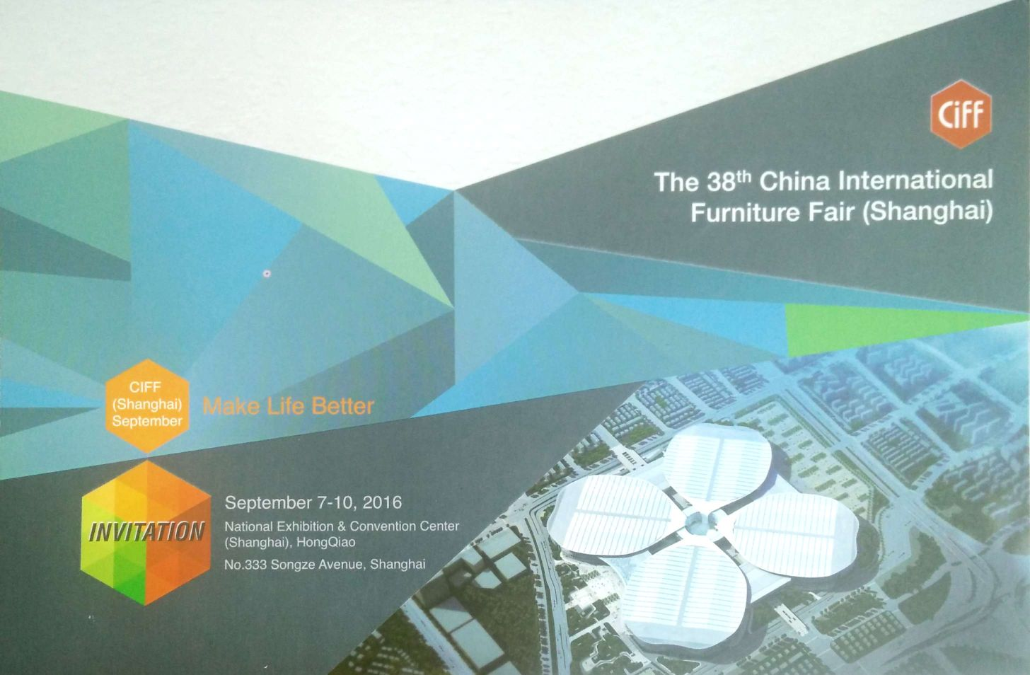 September 7-10,2016, Huajian will participate in the 38th China international Furniture Fair(shanghai)